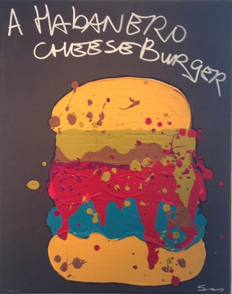 a habanero cheeseburger