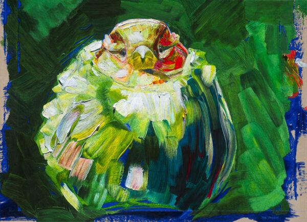 Dirk Moerbeek-studie van mevrouw mus-fotorealistische-schilderijen