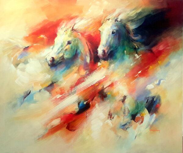 paarden wit