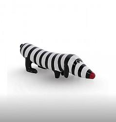 beeld-hotdog-black-white-zebra-15-cm-lang-niloc-pagen